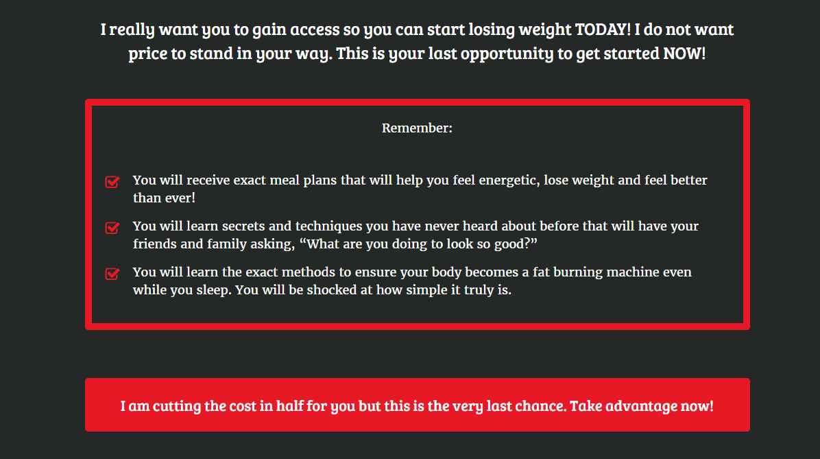 Erotic Weight Loss System guidelines