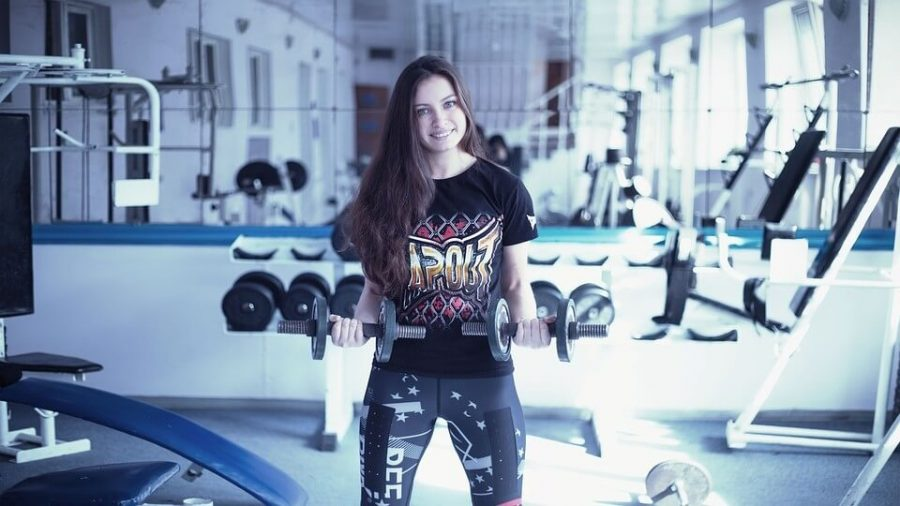 Kickboxing Training Apparatus Girl In The Gym Boxing