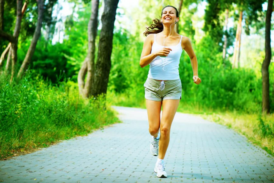Jogging during Outdoor