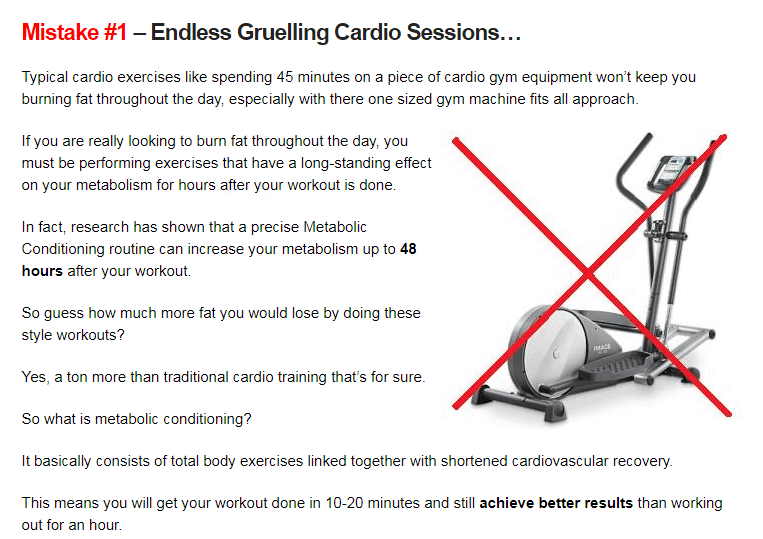 screenshot - mistakes in cardio workouts
