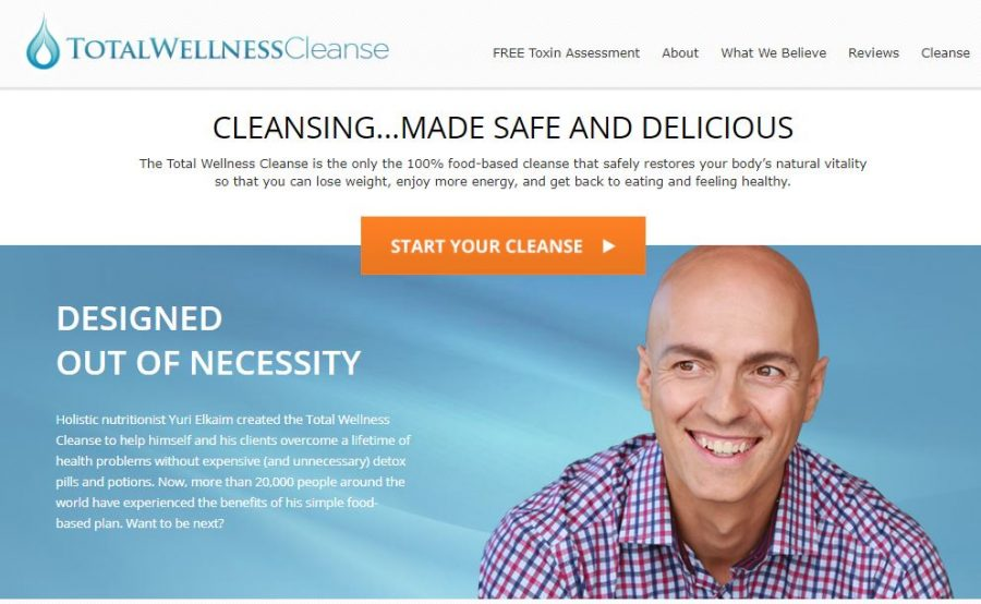 Website of Total Wellness Cleanse