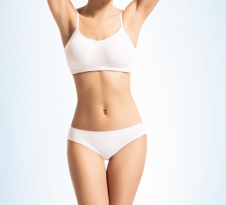 beautiful girl in sporty underwear