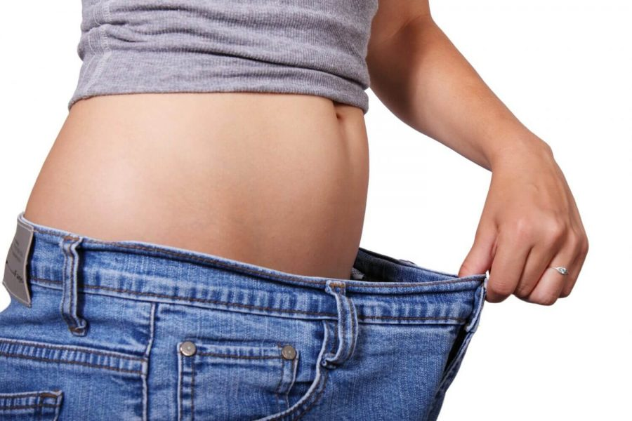 weight loss girl in jeans