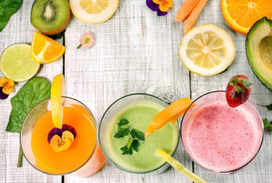 delicious juice and smoothie