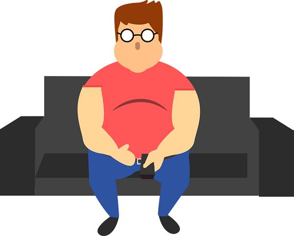 Fat accumulates around your tummy