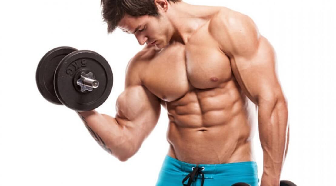 mans muscle building