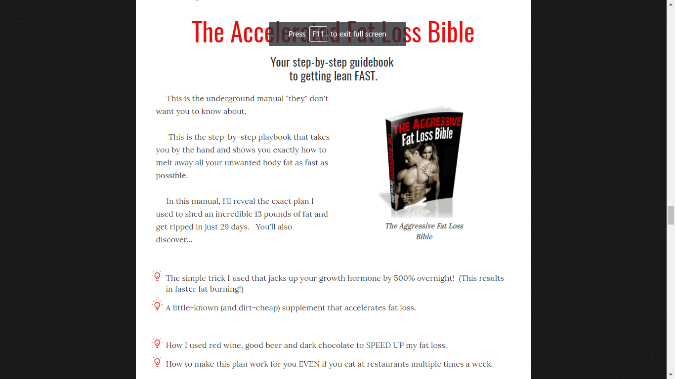 The Accelerated Fat Loss Bible