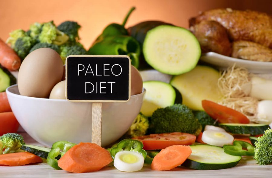 signboard with the text paleo diet