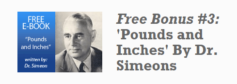 "free bonus e-book ""Pounds and inches"" by Dr. Simeons"